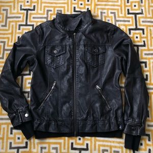 Made by Johnny Black Motorcycle Pleather Jacket